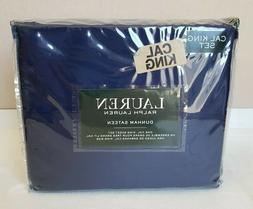 NWT Ralph Lauren Dunham Sateen Cadet Blue CAL KING Sheet Set