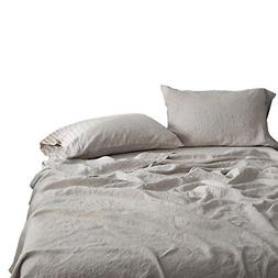 Simple&Opulence 100% Linen Sheet Set Embroidery Linen
