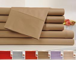 OrganicPro 100% Organic Cotton Bed Sheet Set 6 Piece Cotton