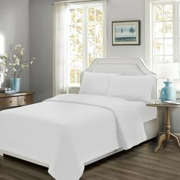 Mellanni 4-Piece Bed Sheet Set Cotton Percale 300TC Natural