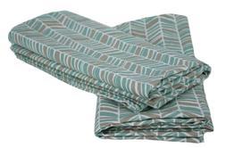 Room Essentials Pillowcase Prints Set 2 king Easy Care Turqu