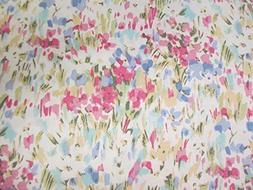 Ralph Lauren Pink Watercolor Abstract Floral Sheet Set Set 1