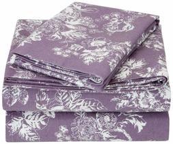 Pinzon 170 Gram Flannel Sheet Set - Twin Xl, Floral Lavender