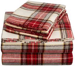 plaid velvet flannel sheet set