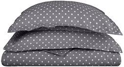 Superior Polka Dot Duvet Cover Set, 600 Thread Count Cotton