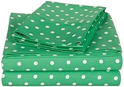 Superior Polka Dot Sheet Set, 600 Thread Count Cotton Blend