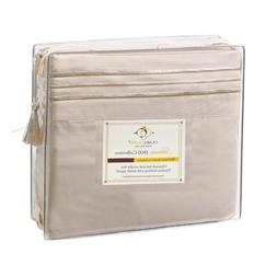 CLARA CLARK Premier 1800 Series 4 piece Bed Sheet Set - Quee