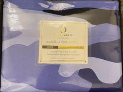Clara Clark Premier 1800 Series 4Pc Bed Sheet Set Blue Camou