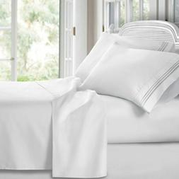 Clara Clark Premier 1800 Series 4pc Bed Sheet Set - King - W