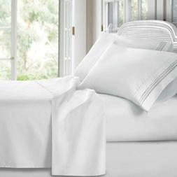 Clara Clark Premier 1800 Series 4Pc Bed Sheet Set - Queen, W