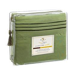 Clara Clark Premier 1800 Series 4pc Bed Sheet Set - Cal King
