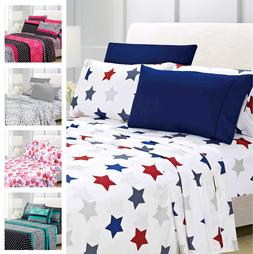 American Home Collection Premium 6-Piece Printed Sheet Set -