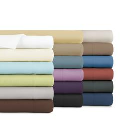 Premium Comfort Oversized King Flat Sheet Only-18 Solid Colo