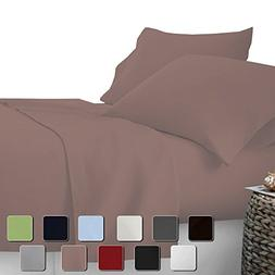 "Rajlinen Presents - 4 PSc Sheet Set 12"" DEEP Pocket - 400 TC"