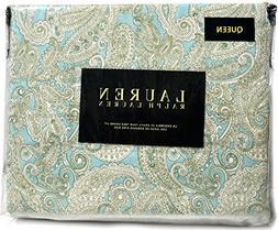 Ralph Lauren Queen Pastel Paisley Sateen Cotton 4-piece Shee