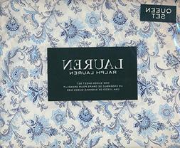 Lauren Ralph Lauren Queen Size 4 Piece Sheet Set 100% Cotton
