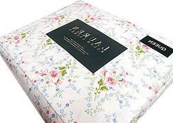 Ralph Lauren 4 Piece Queen Sheet Set Pink Blue Green Floral