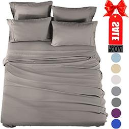 Bed Sheets Set California King Sheets Microfiber Super Soft