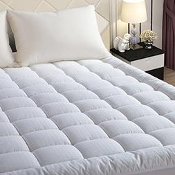 EASELAND Quilted Fitted Mattress Pad -Mattress Cover Stretch