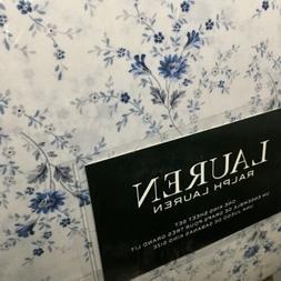 Ralph Lauren Cottage Floral BLUES KING XDP 4p Sheet Set NIP