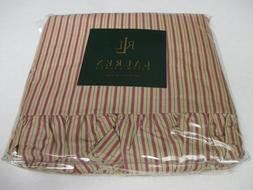 Ralph Lauren Grosvenor Square Red Tan Striped Flat Sheet - K