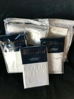 Ralph Lauren Langdon 624 Deco White King and Standard Shams