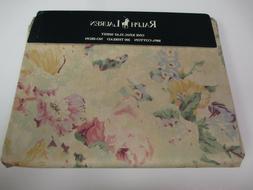 RARE Ralph Lauren FRANCESCA Multi Tan Neutral Floral Flat Sh