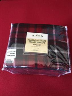 red plaid flannel sheets bedding king