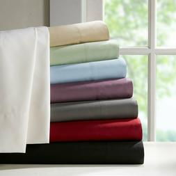 Royal's Solid Soft Bed Sheet Set Luxury Linens 100% Combed C