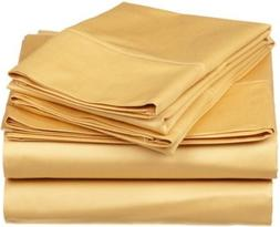 Split-King: Adjustable King Size Solid Gold Wrinkle-Free Hot