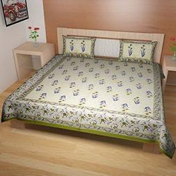 TRADITIONAL MAFIA RSES747097 Cotton Bed-sheet set, Multicolo
