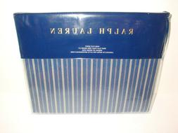 Ralph Lauren Rue Vaneau Wendell Stripe King Flat Sheet Navy