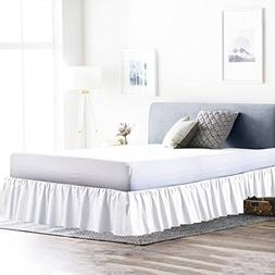 Rajlinen Ruffle/Gathering Bed Skirt Genuine Poly Cotton Bed