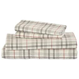 Stone & Beam Rustic Windowpane Flannel Yarn-Dyed Sheet Set,
