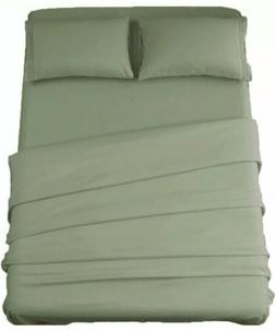 Sonoro Kate Sage Green King Size Bed Sheets 4 Piece New
