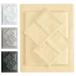Mellanni 100% Cotton Sheet Set w/ Deep Pockets 4-Piece 300 T