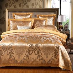 Sateen cotton gold duvet cover cotton bed <font><b>sheet</b>