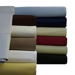 Abripedic Sateen Solid Sheets, 600-Thread-Count 5PC Bed Shee
