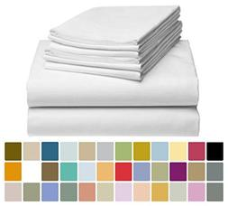 "LuxClub 6 PC Sheet Set Bamboo Sheets Deep Pockets 18"" Eco Fr"