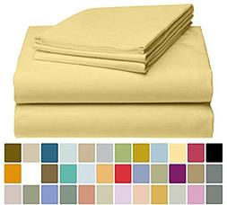LuxClub 4 PC Microfiber & Bamboo Sheet Set: Bamboo Bedding S