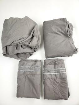 Sonoro Kate Sheet Set, Gray - King size - 4 Piece