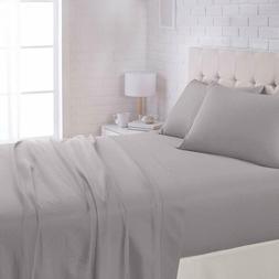 Sheet Set Microfiber Dark Grey Soft Warmth Shrink Wrinkle Re
