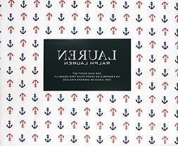 Lauren Ralph Lauren Sheet Set Navy Blue and Red Nautical Anc