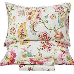 Queen's House Sheets Boho Lotus Print Bed Sheet Sets Califor