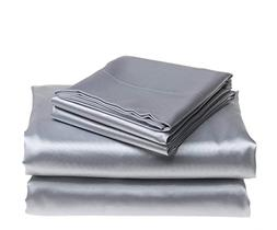 Bedding Emporium 100% Pure Silk Satin Sheet Set 7pcs, Silk F