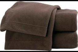 Soft & Lofty Fleece Sheet Set Rich Brown Twin Bed Size Sheet