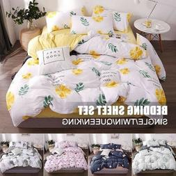 Soft Bed Sheets Set 3/4 Piece Deep Pocket Bedding Sets Queen
