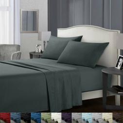 Soft Bed Sheets Set 4 Piece Deep Pocket Bedding Sets Queen K