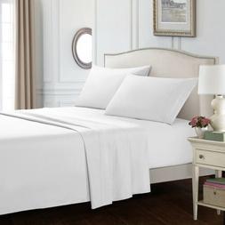 Soft Bedding Set Sheets Comfort 4 Piece Deep Pocket Bed Shee