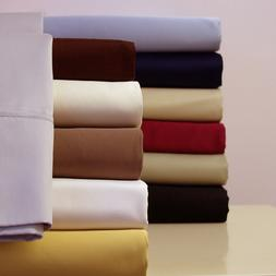 Solid Best Luxury Cotton Bed Sheets 300 Thread Count Sheet S